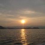 大村湾の落陽
